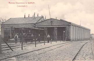 Ansichtkaart Buren (GD) Remise Stoomtram (voorzijde) Tram TBC-lijn Tiel Buren Culemborg HC5731