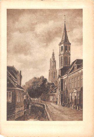 Ansichtkaart Amersfoort Langegracht 1929 HC5739