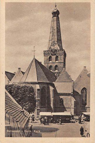 Ansichtkaart Barneveld Marktdag Hervormde Kerk Markt 1949 HC5752