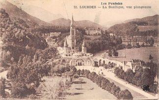Ansichtkaart Frankrijk Lourdes La Basilique, vue plongeante France Europa HC5782