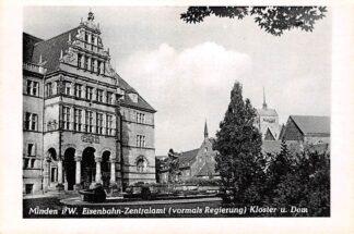Ansichtkaart Minden i. W. Eisenbahn-Zentralamt Kloster u. Dom Duitsland Deutschland HC5786