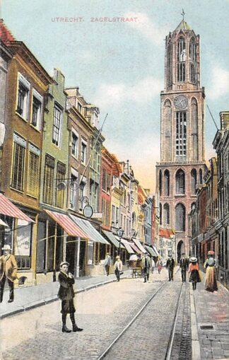 Ansichtkaart Utrecht Zadelstraat met Hondenkar HC5798