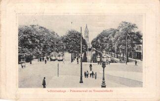 Ansichtkaart 's-Gravenhage Tram HTM Prinsessegracht en Toussaintkade1911 HC5803