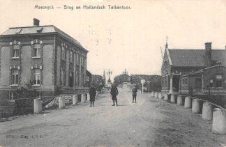 Ansichtkaart Maaseik Brug en Hollandsch Tol kantoor 1912 België Limburg HC5810