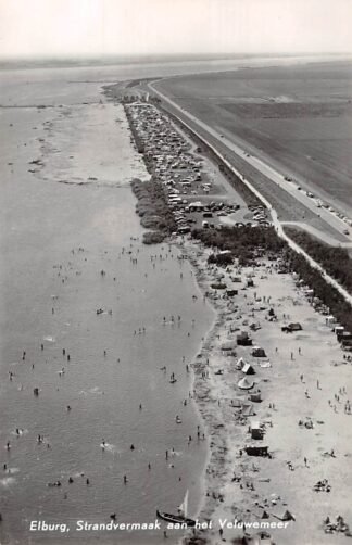 Ansichtkaart Elburg Strand vermaak aan het Veluwe meer 1967 Luchtfoto KLM 36384 HC5874