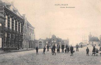 Ansichtkaart Harlingen Groote Breedeplaats 1906 HC5876