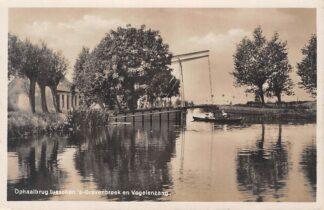 Ansichtkaart Reeuwijk Ophaalbrug tusschen 's-Gravenbroek en Vogelenzang Type fotokaart HC5895
