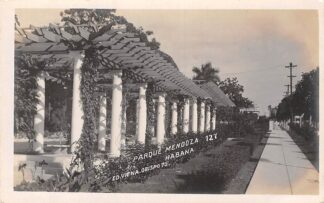 Ansichtkaart Cuba Habana Parque Mendoza Fotokaart 1919 Noord-Amerika HC5918