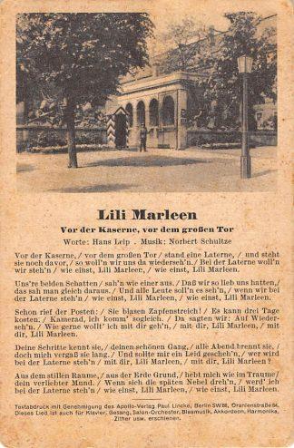 Ansichtkaart Filmster Tekst Lili Marleen Muziek Militair WO-2 Duitsland Deutschland HC5922