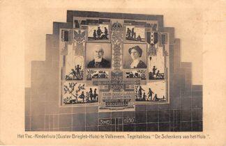 Ansichtkaart Valkeveen Het Vac. Kinderhuis (Gustav Briegleb-Huis) Tegeltableau De Schenkers van het huis Huizen Naarden HC5933
