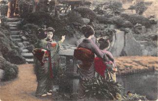 Ansichtkaart Japan Nippon Geisha's Azië HC5948