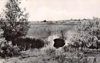 Ansichtkaart Nieuw-Helvoet Kwakjeswater met boot 1958 Hellevoetsluis HC5972