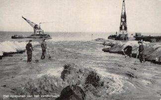 Ansichtkaart Harderwijk Het opspuiten van het zandlichaam Zuiderzee Flevoland HC5975
