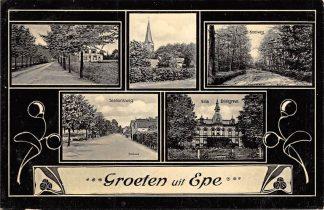 Ansichtkaart Epe Groeten uit 1916 Militair verzonden HC5990