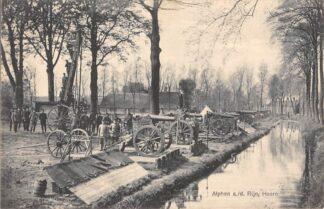 """Ansichtkaart Alphen aan den Rijn """"Hoorn"""" Artillerie oefening met soldaten Militair verzonden 1915 HC5991"""