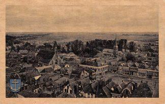 Ansichtkaart Steenwijk Gezicht op de Markt Hervormde en Gereformeerde Kerk HC6006