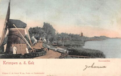 Ansichtkaart Krimpen aan de Lek Korenmolen Molens 1905 HC6012