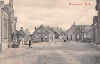 Ansichtkaart Deil Gemeentehuis 1910 Geldermalsen Betuwe HC6025