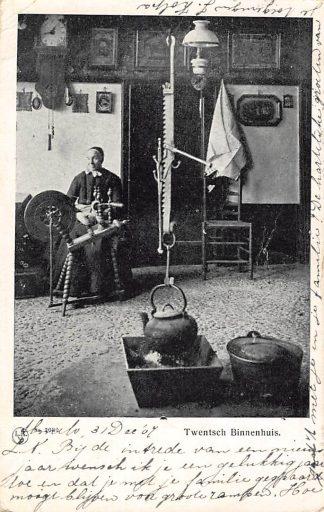 Ansichtkaart Almelo Twente Twentsch Binnenhuis 1907 Klederdracht HC6050