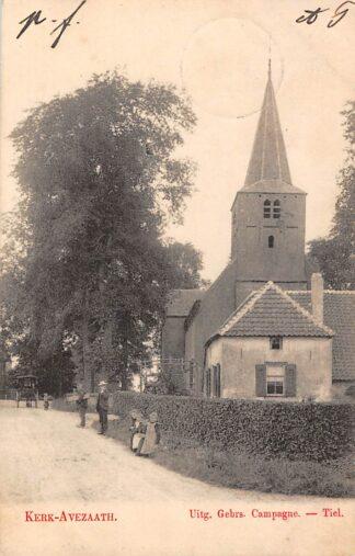 Ansichtkaart Kerk Avezaath Dorpsgezicht met kerk 1903 Tiel Betuwe HC6055
