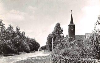 Ansichtkaart Middenmeer Kerkring met Hervormde Kerk 1962 Wieringermeer HC6086