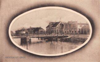 Ansichtkaart Erica Drenthe Groeten uit Brug over kanaal HC6117