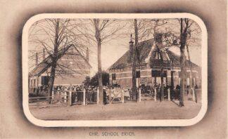 Ansichtkaart Erica Drenthe Chr. School met kinderen HC6120
