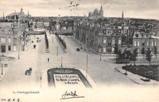 Ansichtkaart 's-Hertogenbosch In het bloemperk de naam van de uitgevers Apart Den Bosch Kleinrondstempel Filatelie 1902 HC6136