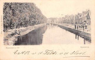 Ansichtkaart Heerenveen Heerenwal en Fok 1900 Kleinrondstempel Filatelie  HC6137