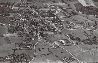 Ansichtkaart Vaals Luchtfoto met de grens Nederland - Duitsland 1967 HC6163