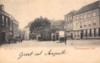 Ansichtkaart Tiel Varkensmarkt 1903 Kleinrondstempel Buren (GD) 1903 Filatelie HC6178