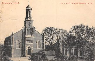 Ansichtkaart Krimpen aan den IJssel Kerk en Pastorie Uitg. S. & W.N. van Nooten No. 321 Schoonhoven HC6183