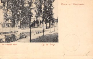 Ansichtkaart Oostvoorne Groete uit Op het Dorp Kleinrondstempel 1903 Filatelie HC6186
