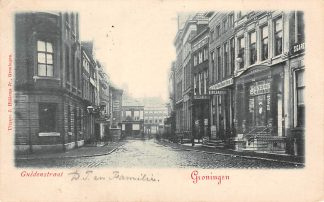 Ansichtkaart Groningen Guldenstraat Kleinrondstempel Ootmarsum 1902 Filatelie HC6187