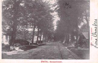 Ansichtkaart Heiloo Dorpstraat met tramspoor Kleinrondstempel Ulrum 1902 Filatelie HC6191