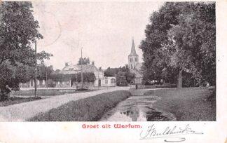 Ansichtkaart Warffum Warfum Groeten uit 1903 Kleinrondstempel Filatelie HC6193