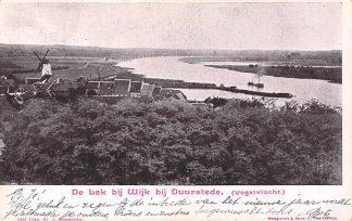Ansichtkaart Wijk bij Duurstede De lek Vogelvlucht Molen Kleinrondstempel 1902 Filatelie HC6195