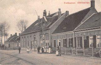 Ansichtkaart Oostburg Postkantoor 1911 Sluis Zeeuws-Vlaanderen HC6206