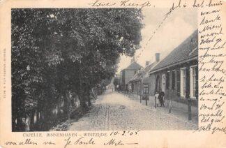 Ansichtkaart Capelle (NB) Binnenhaven Westzijde 1905 HC6210