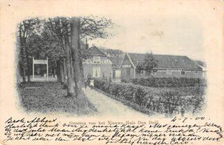 Ansichtkaart Wassenaar groeten van het Nieuwe Huis Den Deijl 1901 HC6212