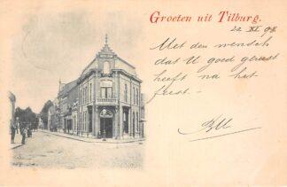 Ansichtkaart Tilburg Groeten uit 1898 Kleinrondstempel Tilburg-Goirle 1898 Filatelie HC6218