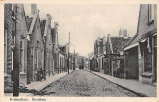 Ansichtkaart Bruinisse Nieuwstraat 1943 Reclame Veedol HC6220