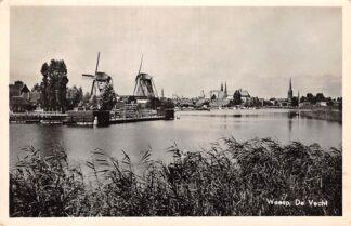 Ansichtkaart Weesp De Vecht met molens 1955 HC6221