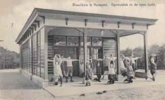 Ansichtkaart Nunspeet Boschhuis Gymnastiek in de open lucht 1934 HC6230