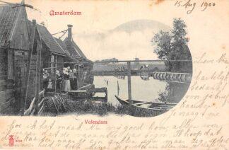 Ansichtkaart Amsterdam Volendam 1900 Molen Klederdracht HC6238