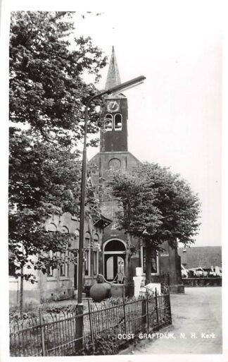 Ansichtkaart Oost-Graftdijk Ned. Hervormde Kerk 1963 Alkmaar HC6247