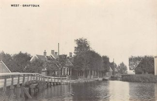 Ansichtkaart West-Graftdijk Fotokaart Jaren 30 Dorp Alkmaar Schermer HC6248