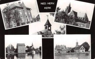 Ansichtkaart Graft De Woude De Rijp West-Graftdijk Oost-Graftdijk Felicitatiekaart Ned. Herv. Kerk HC6258