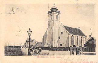 Ansichtkaart Katwijk aan Zee Oude Kerk Kleinrondstempel 1904 Filatelie HC6266