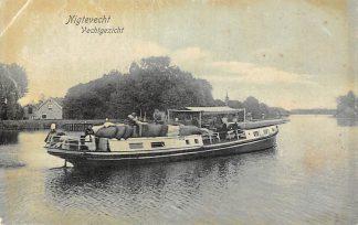 Ansichtkaart Nigtevecht Vechtgezicht Binnenvaart schepen Scheepvaart 1906 Loenen (UT) Stichtse Vecht Kleinrondstempel Filatelie HC6272